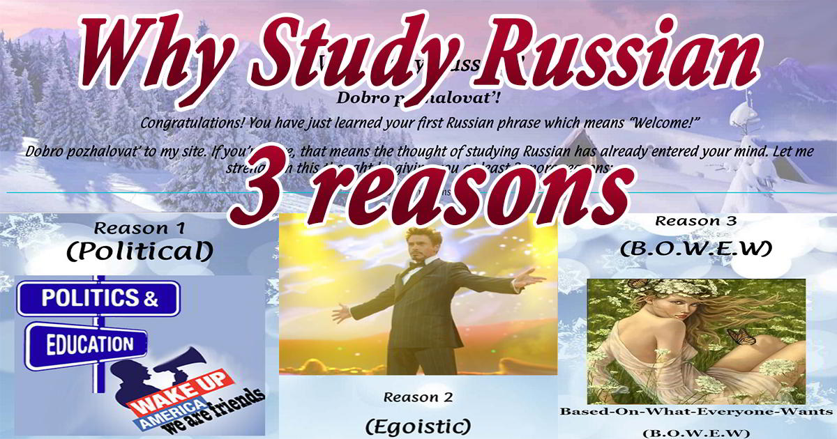 Why Study Russian Russian 28
