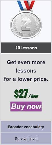 27 - Russian lesson prices